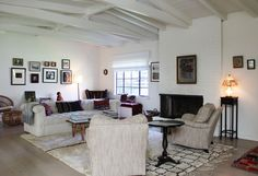 Shiva's Eclectic, Romantic Modern Ranch, wood ceiling, white with white