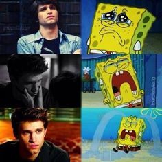 Toby crying. He's so sweet