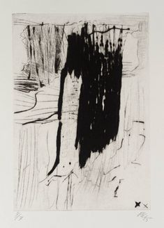 Per Kirkeby '[no title]', 1995 From Vibeke, Etching on paper