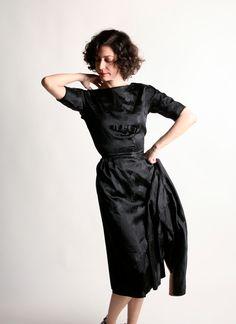 Vintage 50er wackeln Dress 2 Stück-Cocktail-Kleid und von zwzzy