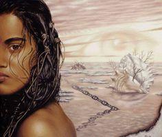 Схема вышивки «девушка и морской берег» - Вышивка крестом