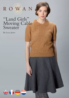 Land Girl's Moving Cable Sweater in Rowan Felted Tweed DK