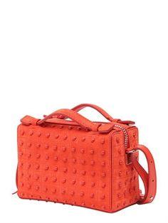 tod's - women - top handles - micro bauletto suede bag