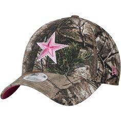 7687ed6c1 Women s Dallas Cowboys New Era Realtree Camo Pink Star Lightly Structured  9TWENTY Adjustable Hat