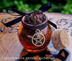 WITCH'S CAULDRON Rich Resin Gemstone Incense by ArtisanWitchcrafts