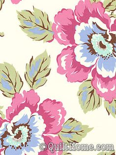 Lovely and fresh flower in a pinky-purpley tone. Gypsy Caravan from @Amy Butler Design.