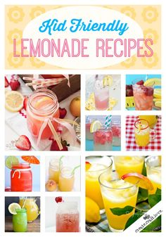 20+ Kid Friendly Lemonade Recipes to help quench your thirst this summer!  via createcraftlove.com