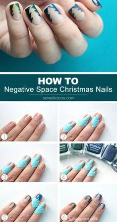 The Reverse Christmas Tree Nail Art Tutorial