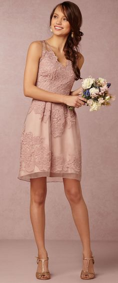 Short A-line Bridesmaid Dress