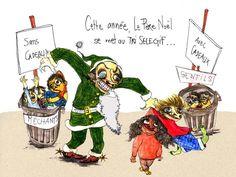 Le Père Noël a pour origine Saint Nicolas. Le père Noël voyage dans un traîneau tiré par des rennes, Saint Nicolas voyageait sur le dos d'un âne.