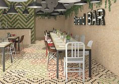 New Chipboard Effect Tiles With a Twist! -    This uniquely colourful  range of tiles  uses the best new  techniques  to create a fantastic industrial style chipboard porcelain tile, that is easy...
