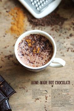 BAYADERKA- food recipes and photos. Blog kulinarny. pomysły na ciasta, desery i inne.: Za oknem deszcz. Czekolada na goraco/ Home-made hot chocolate