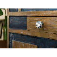 bouton-ceramic-fleur-bleu-diam-39-mm