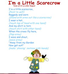 Wiggle Wednesday! Get up and dance to this fall Scarecrow song!