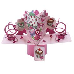 Pop Up Birthday Card Ideal For Mum Mother Gran Nan Auntie Sister Pop Up Greeting Cards, Pop Up Cards, 3d Birthday Cake, Birthday Cards, Nature 3d, Paper Engineering, 3d Cards, Large Letters, 3d Design