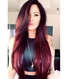 Red Hair Coloration Ideas For Long Hairs