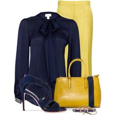 The bag might be too much for me, personally.  Blue & yellow are great colors.