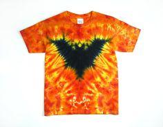 Bat Tie Dye Shirt / Kids T Shirt / Size S, M, L, or XL, Eco-friendly Dyeing on…