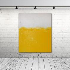 Obraz olejny - Żółty XI - Maja-Gajewska - Obrazy olejne