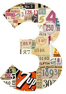 My lucky number is three, so of course when I see a numbers challenge it is the first thing that comes to mind, but how to add a fun element. What's Your Number, Magic Number, Typographie Inspiration, Numbers Preschool, Lucky Number, Collage Art, Collages, Typography Art, Letter Art