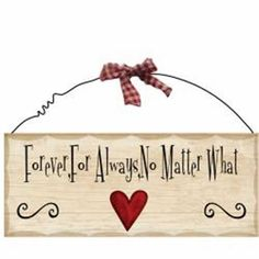 Wooden Sign Decor 10x4 inch Forever For Always No Matter What #Unbranded #Contemporary
