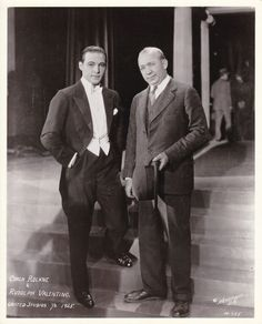 """Knute Rockne famed Notre Dame coach visiting the set of The Eagle w/ Rudolph Valentino lets win one for Rudy"""" Vintage Hollywood, Classic Hollywood, Penelope Keith, Knute Rockne, Silent Love, Hattie Mcdaniel, Peter Lorre, Jeanne Crain, Rudolph Valentino"""