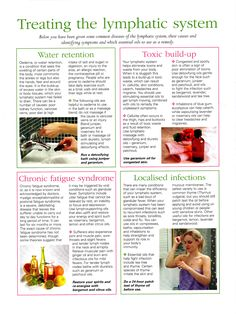 Young Living Essential Oils: Edema Fatigue Infection Lymphatic System Toxic Water Retention