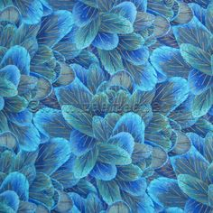 Timeless Treasures FEATHERS Turquoise Plume Quilt Fabric by the Quarter Yard #TimelessTreasures