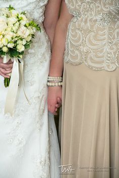 A bride and her mother getting ready for her big day!