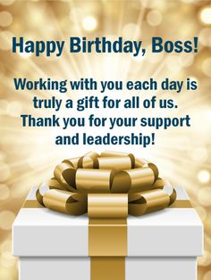 10 Best Birthday Cards For Boss Images Anniversary Greeting Cards