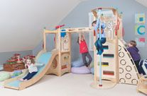 Indoor playground, playbed, playhouse, furniture, and toys Rhapsody 4