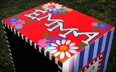 Painted Bookcase, Bookcase, Personalized, Furniture, Personalized Children's Furniture, Children's Furniture,Whimsical Furniture