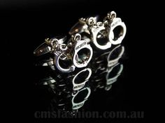 Novelty Hand Cuffs Cufflinks #mensfashion #cufflinks #noveltygift #mensaccessories #accessories  www.cmsfashion.com.au