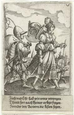 Artist: Solis, Virgilius the Elder, Title: Marketentster en troepenschavuit, Date: 1524-1562