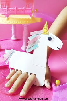 Finger puppet unicorn craft is the most magical craft ever. Its easy to make and loads of fun to play with. Its perfect for unicorn themed birthday party as well.
