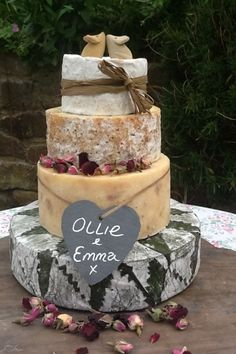 Cornish Yarg Cheese Wedding Cake
