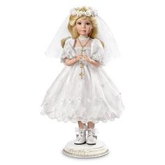 Linda Mason Her First Holy Communion Porcelain Doll: Blonde by Ashton Drake $100