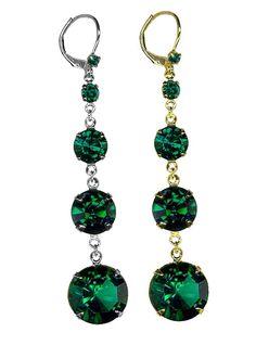 Roberta Chiarella - Emerald Fairy Tale Four Earrings