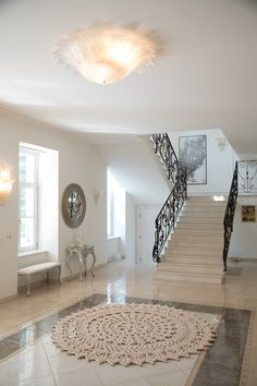 Päike carpet caressing the floors of a 17 century family villas main greeting room. Carpet Design, Floor Design, A 17, Villas, Floors, Contrast, Amazing, Interior, Room