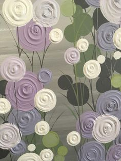 Lavender, Sage Green, and Gray Textured Painting, Abstract Flowers, Large Acrylic Painting on Canvas Color Lavanda, Acrylic Painting Canvas, Painting Abstract, Lavender Green, Types Of Painting, Yellow Painting, Pink Wallpaper, Abstract Flowers, Texture Painting