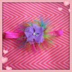 Neon feather headband  on Etsy, $8.00