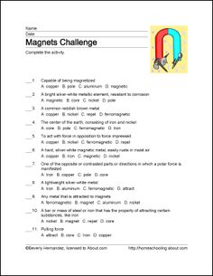 The 93 best grade 4 science worksheets images on pinterest free printable magnet word games worksheets for grade 1science ibookread