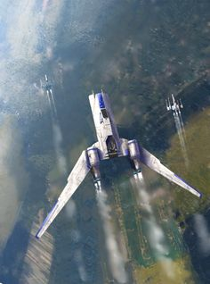 Rogue One by Matthieu Rebuffat. Keywords: star wars concept spaceship scene concept art illustration design composition by matthieu rebuf...