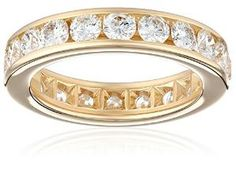 14k Gold Channel-Set Diamond Eternity Band (3 cttw, I-J Color, I2-I3 Clarity) by Best Sellers