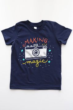 Making Magic Kids Boy Tee - camera photographer tee
