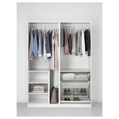 PAX Wardrobe white Sekken frosted glass PAX Wardrobe white Sekken frosted glass IKEA The post PAX Wardrobe white Sekken frosted glass appeared first on Garderobe ideen. Ikea Pax Wardrobe, Wardrobe Storage, Glass Wardrobe, White Wardrobe, Wardrobe Closet, Short Wardrobe, Pax Planer, Armoire Pax, Outfits