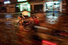 Flooded street in Saigon