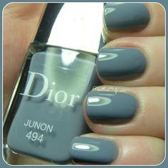 Dior Junon - Nail of the Day Dior Nail Polish, Nail Polish Colors, Beauty Makeup, Hair Makeup, Finger Painting, Beautiful Nail Art, Mani Pedi, Swatch, Day