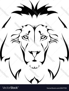 Lion head Tattoo. Download a Free Preview or High Quality Adobe Illustrator Ai, EPS, PDF and High Resolution JPEG versions.