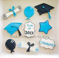 Graduation cookies - Kookie Kreations by Kim